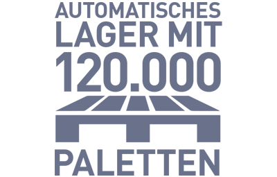 Lager mit 120.000 Palettenstellplätzen